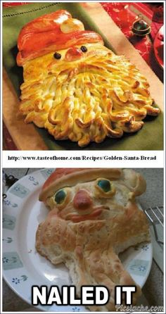 Santa Bread Fail