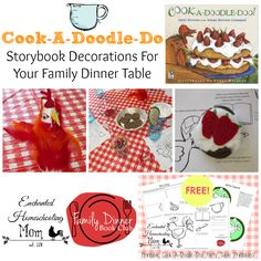 Cook A Doodle Do Storybook Decorations For Your Family Dinner Table Cook A Doodle Do Storybook Decorations For Your Family Dinner Table