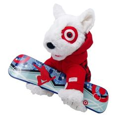 St. Jude Holiday Bullseye® Plush Dog - Target is donating 100% of the retail price of this plush to St. Jude Children's Research Hospital between the months of October through December or a maximum of $750,000.