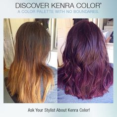 Gorgeous fall color by Instagrammer johnnie_prettibloom. She used 5oz Kenra Color 6RV & 1oz Violet Booster with 20vol.