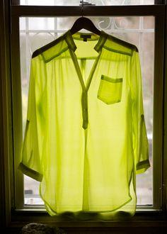 neon boyfriend blouse.