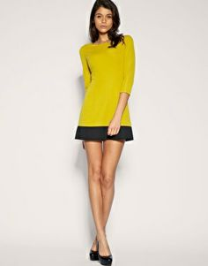 ASOS Contrast Hem Ponte Shift Dress - would make a lovely Coco!