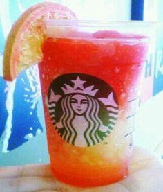 Blood Orange Slush! Recipe here: http://starbuckssecretmenu.net/starbucks-secret-menu-blood-orange-slush/ Orang Slush, Starbucks Secret Menu Drinks, Starbuck Secret, Food, Slush Recipe, Drink Recip, Secret Starbucks Drinks, Blood Orange, Starbucks Secret Drinks