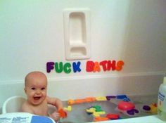 Inappropriate pictures to give on 18th birthday-  This is exactly something my Dad would have done!! www.DebBixler.com baths, funni thing, birthdays, babi babi, babi kiddo, funni pic, children, kids, kid stuff
