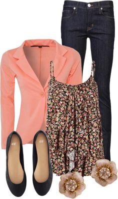jacket, floral tops, floral top outfit, pink blazer, blazer floral, casual fridays, work outfits, floral shirt outfit, spring outfits