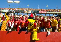 Cy is looking pretty good for 60, here he is getting the crowd fired up before the game vs Toledo #LoyalForeverTrue