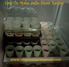 Easy to make Jello Shots!  Ready in 3-4 hours if done right!