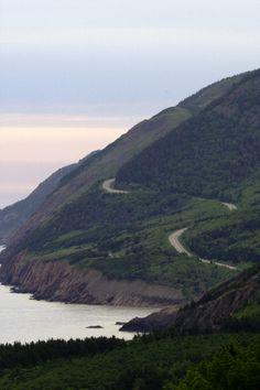 Coastal road of CAPE BRETON, Nova Scotia:  Canada's provinces of Nova Scotia, Newfoundland and Labrador are spectacular.