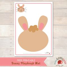 Free Bunny Playdough Mat from Busy Little Bugs