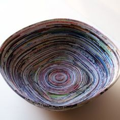 Recycled Magazine Page Bowl