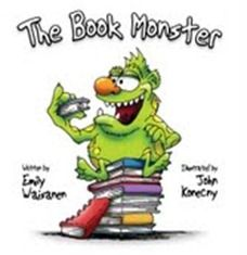 The book monster with writing idea