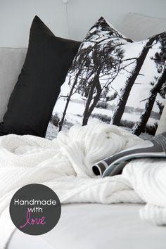 cushion made of a tea towel