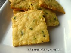 Home Cooking In Montana: Chickpea Flour Crackers with Chives...Parmesan Crackers Revisited