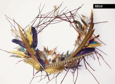 I made this for @Rue Magazine: Easy + simple DIY Feather Wreath with Meg Allan Cole | Rue