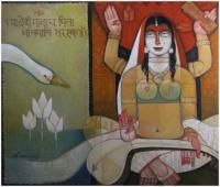 Saraswati Painting By Arun Kumar Samadder