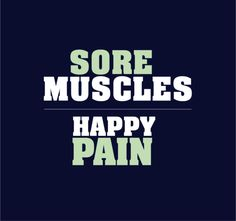fit, sore muscles
