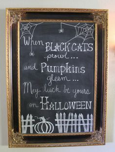Halloween chalkboard....design ideas for bulletin board at school.