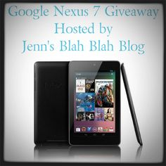 Enter to #win a Google Nexus 7! Swing by don't miss this fabulous #giveaway