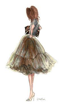 Tulle #fashion #illustration