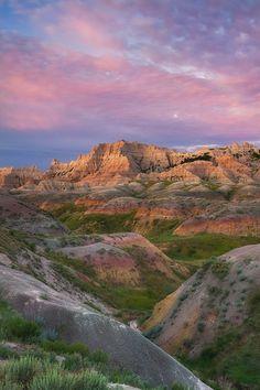 "Badlands National Park, South Dakota | ""Badlands Sunrise"" by David Cobb, via 500px."