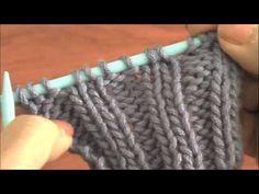 Dos agujas: punto elástico doble 2/2 (punto pretina)
