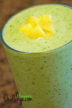 Pineapple Cleanse Smoothie. Celery, cucumber, cilantro, parsley, lemon, ginger, pineapple.