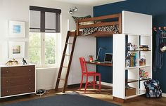 Loft #bed with desk underneath