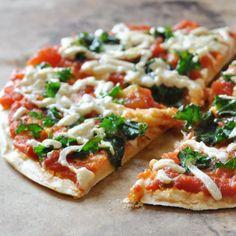 Vegan+ GF Chickpea Crust Pizza- super easy to make pizza.