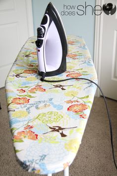 IRON IN STYLE! Make your own ironing board cover!