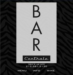 bar centrale nyc