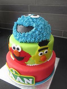 seesamstreet cake, awesom cake, cakes, sesamstreet, birthday kid, sesam street, sesame street cake