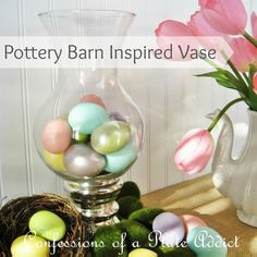 CONFESSIONS OF A PLATE ADDICT: Woo Hoo! My Pottery Barn Inspired Spring Vase...And It's Free!