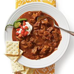 Spicy Slow-Cooker Beef Chili | MyRecipes.com