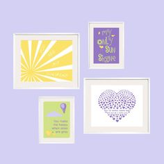 You Are My Sunshine in purple green and yellow goes by YassisPlace, $65.80