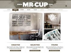 web design graphic mr cup