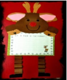 Christmas { Craftivity }- justwildaboutteaching.blogspot.com