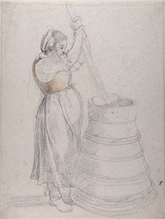 Credit: Devonshire Collection, Chatsworth / Reproduced by permission of Chatsworth Settlement Trustees Rubens, A Peasant Girl Churning Butte...
