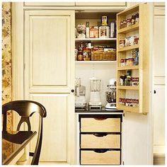 hidden storage, and spice rack spice rack, kitchen pantries, pantri space, kitchen corner, drawer, small pantri