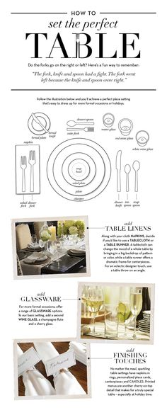 How to Set the Perfect Table pottery barn table setting, potteri barn, dinner parties, kitchen dining, perfectt