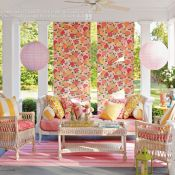 Pretty porch colors for spring and summer  #porch