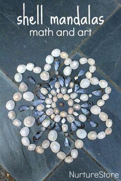 shell mandalas for kids :: math and art