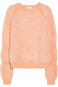 Chloé Flocked Wool and Cashmere-Blend Sweater