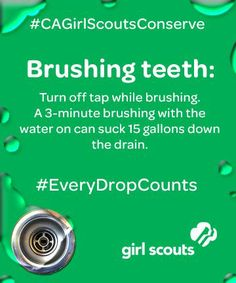 With 2013 being the driest California's ever recorded, California Girl Scouts are taking action to conserve water and share simple steps in a state-wide movement to make sure #EveryDropCounts and to show that #CAGirlScoutsConserve