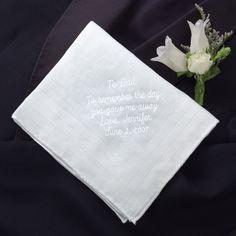Father of the Bride Linen Handkerchief