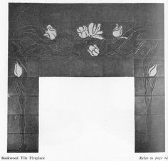 Rookwood Tile fireplace surround from 1903 Craftsman magazine.