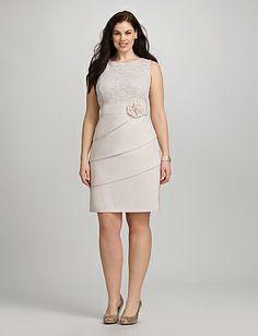 Plus Size Lace Top Flower Dress | Dressbarn