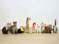 OMG, adorable painted clay totems from San Diego artist Danielle Pedersen. There's even a totem of the month club!
