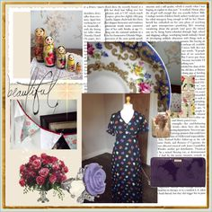Floral, created by dollytopsy on Polyvore