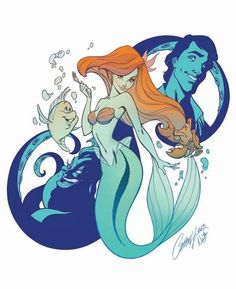 Little mermaid tattoo idea