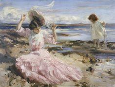 By summer seas, Charles Sims. English (1873-1928)